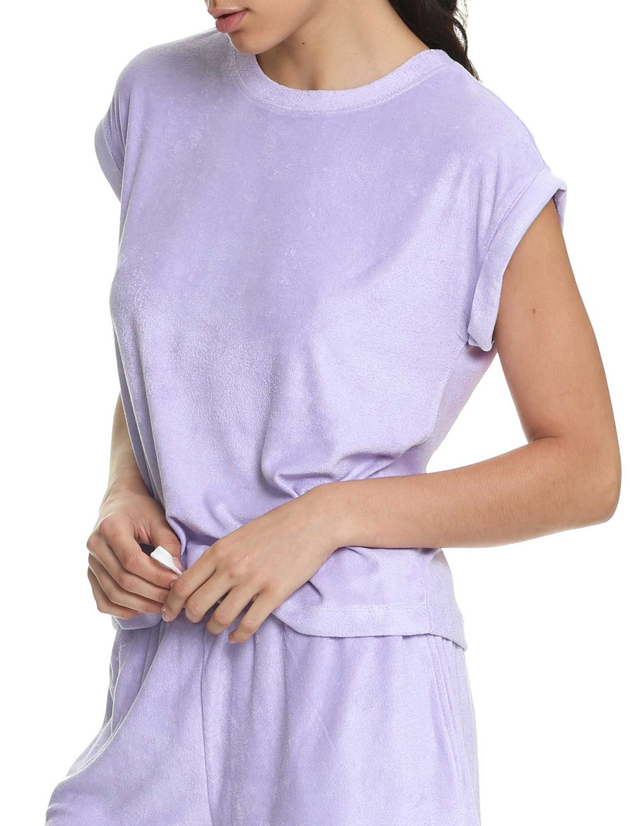 French Terry Tee in Lilac