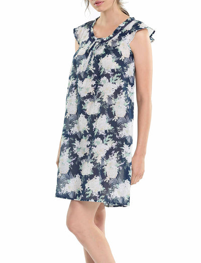 Gess Navy Pure Cotton Flutter Nightie
