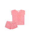 Kids French Terry Boxer PJ in Pink