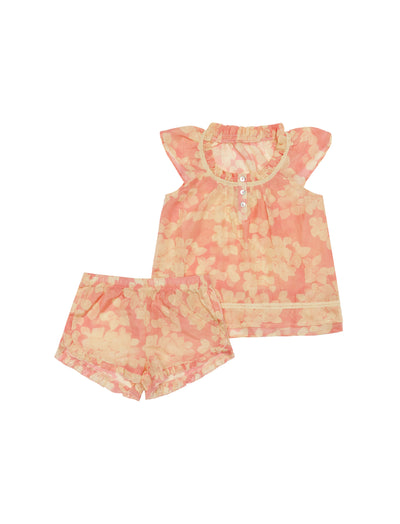 Kids Hydrangea Flutter Cami and Boxer Set