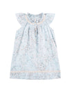 Girls Cherry Blossom Blue Flutter Nightie