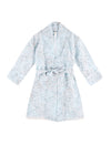 Girls Cherry Blossom Blue Robe