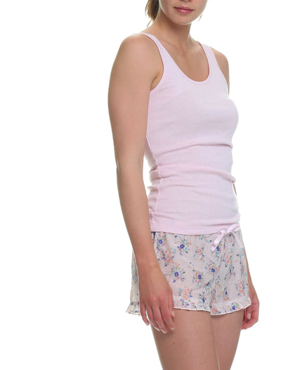 Iggy Pink Frilled Boxer And Singlet Set Papinelle