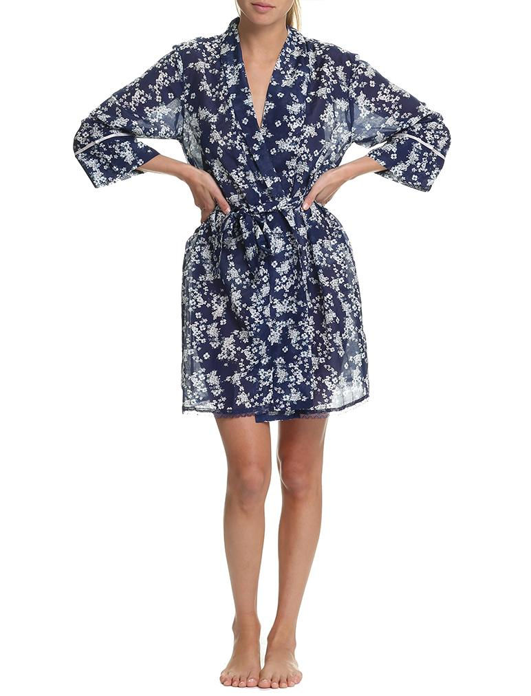 Isabelle Navy Robe