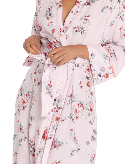 Jardin Light Mid-Length Robe