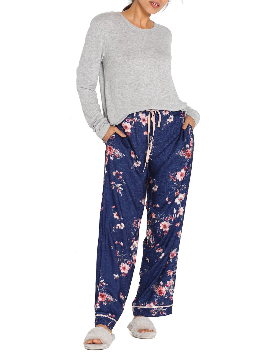 Jardin Navy Full Length Pants