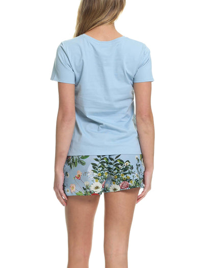 Karen Walker Love Letter Blue Floral Tee and Boxer PJ