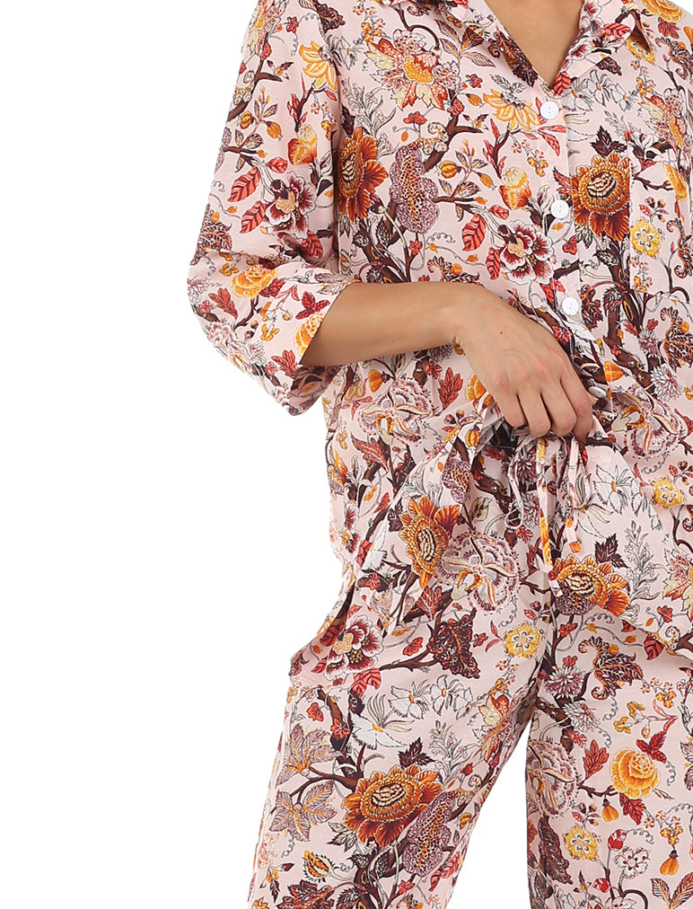 Karen Walker Silk Cotton Garden of Eden Crop PJ