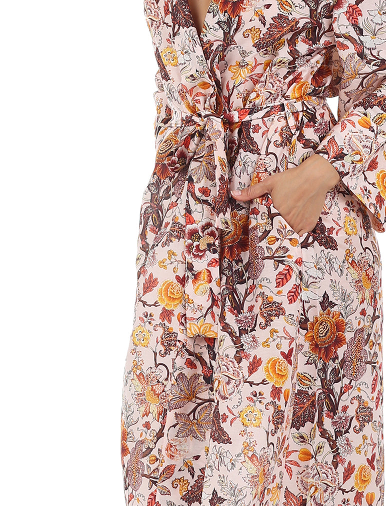 Karen Walker Silk Cotton Garden of Eden Maxi Robe