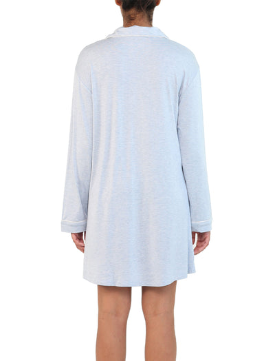 Modal Soft Kate Nightshirt in Powder Blue