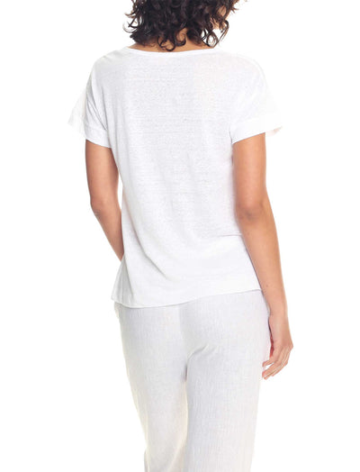 Resort Linen Tee in White