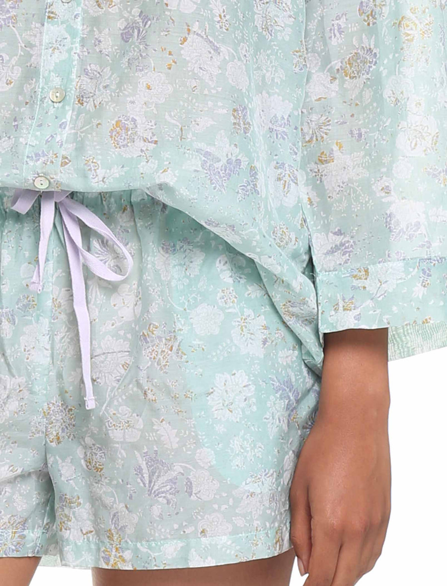 Louis Mint Cotton Silk Boxer PJ