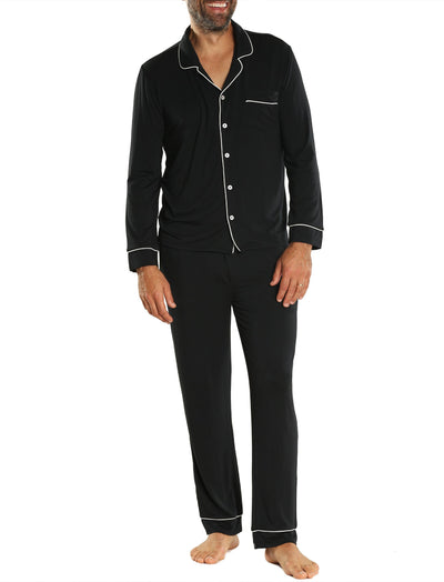 Mens Hudson PJ Set in Black