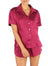 Silk Short Sleeve Shirt and Boxer PJ, Merlot