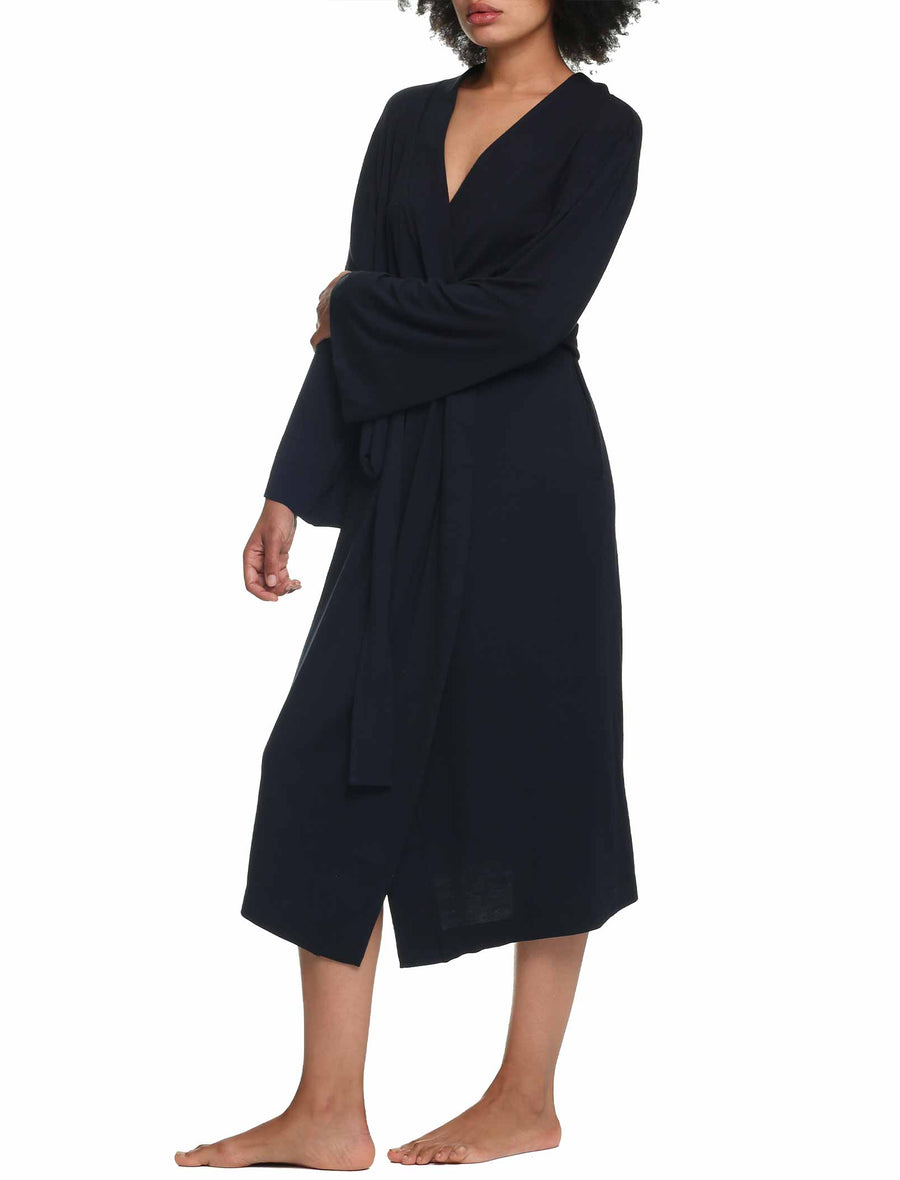Modal Soft Maxi Robe in Black