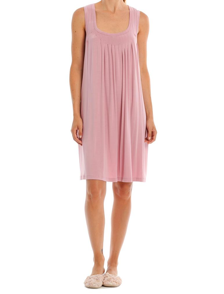 Modal Pleat Front Nightie in Raspberry
