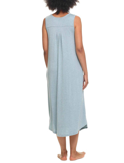 Modal Soft Pleat Front Maxi Nightie, Sage