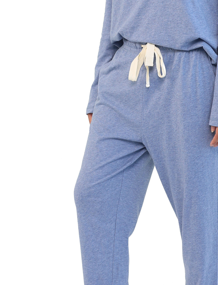 Organic Cotton Knit Pant in Indigo