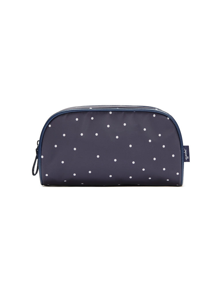 Navy Spot Small Cosmetic Bag