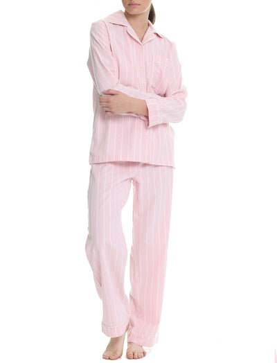 Organic Cotton Stripe PJ in Pink