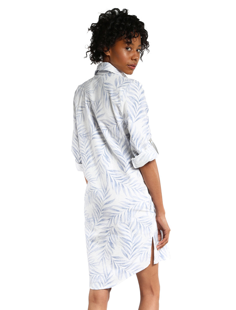 Silver Palms Flannel Nightshirt