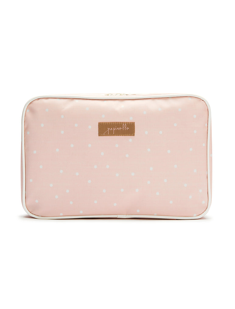 Pink Spot Large Fold Out Cosmetic bag