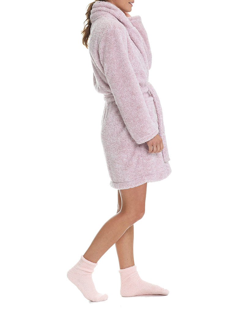 Short Plush Robe, Musk