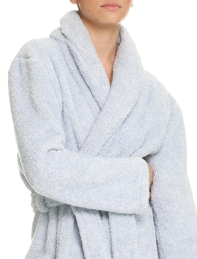 Midi Cozy Plush Robe in Blue