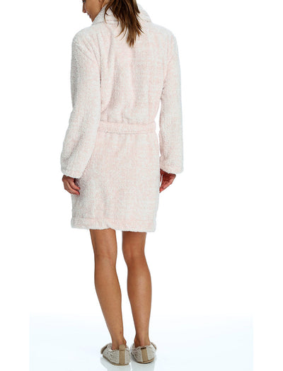 Short Plush Robe, Pink