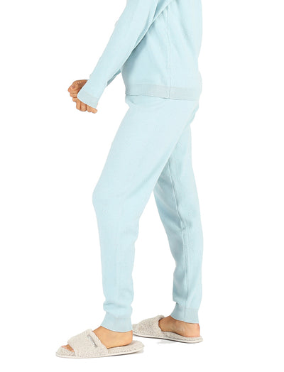 Pointelle Pants Blue Green
