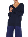 Relax V-Neck Jumper Navy
