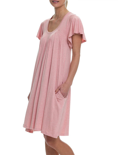 Modal Flutter Nightie, Rose Tan