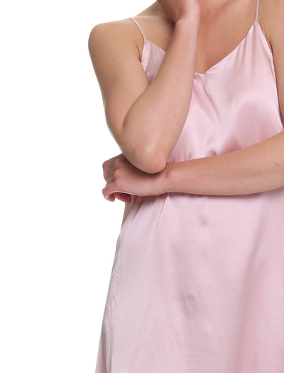Pure Silk Slip Nightie, Rose