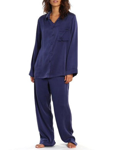 Washable Silk PJs in Navy