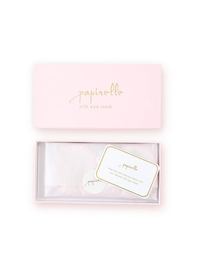 Silk Boxed Eye Mask in Ice Pink