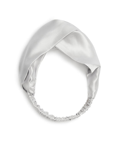Silk Headband, Dove Grey