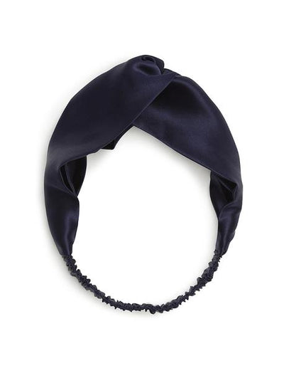 Silk Headband, Navy
