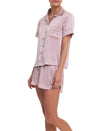 Silk Short Sleeve Shirt and Boxer PJ, Musk