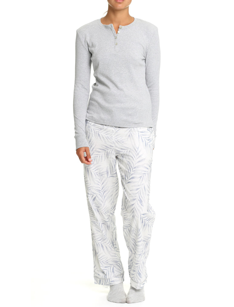 Silver Palms Flannel PJ Pants