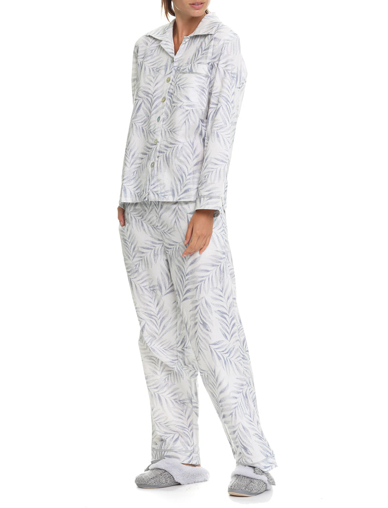 Silver Palms Flannel PJ Set