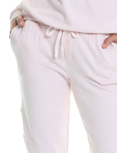 So Soft Fleecy Loungepants in Light Pink