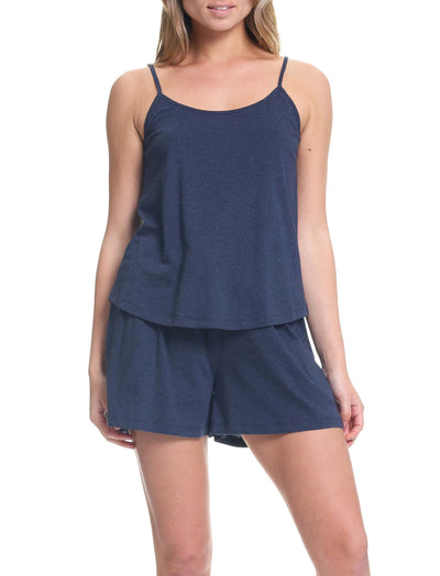 Organic Knit Cami in Navy