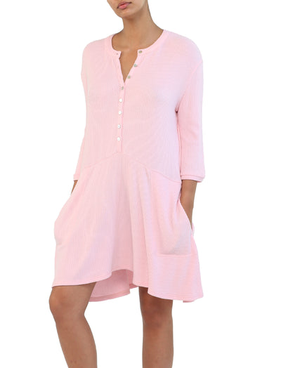 Soft Touch Rib Nightie in Misty Pink