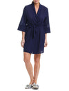 Swiss Dot Navy Robe