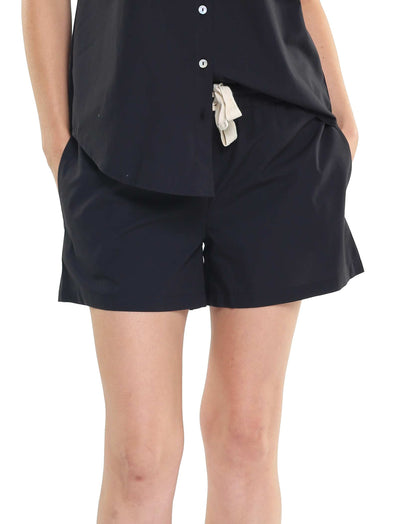 Whale Beach Long Boxer in Black
