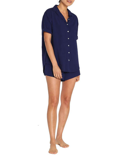 Whale Beach Short Sleeve Shirt, Navy