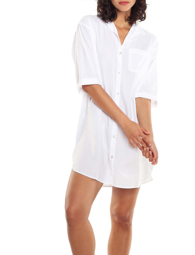 Whale Beach Nightshirt in White