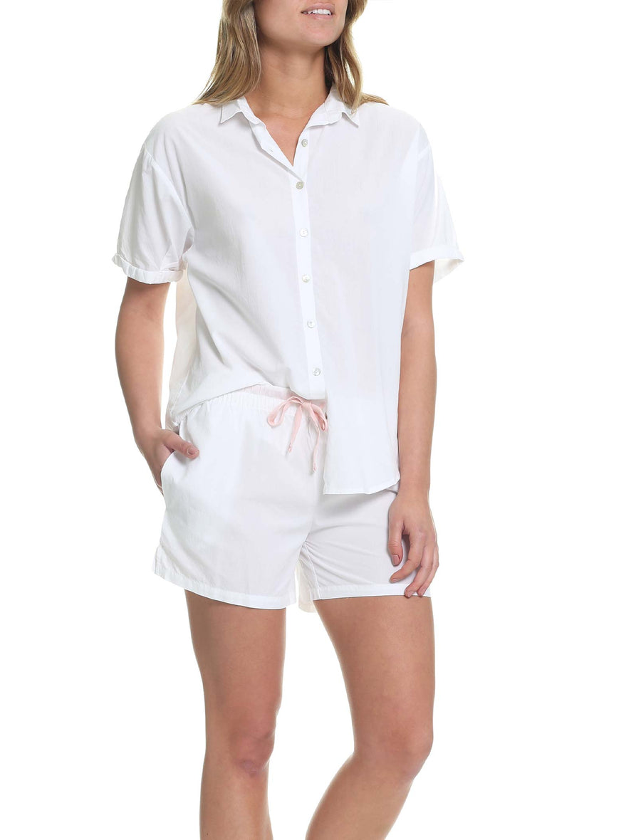 Whale Beach Short Sleeve Shirt, White