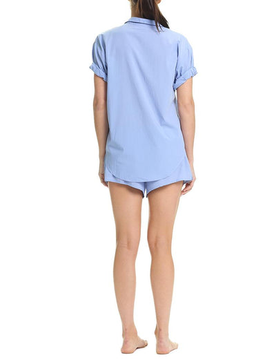 Classic Whale Beach Blue Short Sleeve PJ Shirt