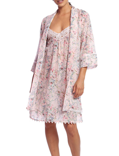 Yolly Pink Lace Front Nightie